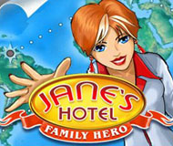Jane's Hotel: Family Hero logo