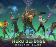 Hero Defense - Haunted Island logo