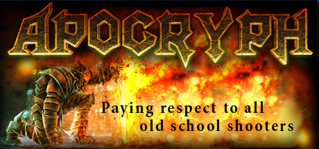 Apocryph: an old-school shooter logo