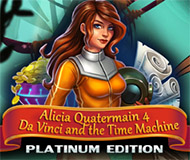 Alicia Quatermain 4 - Da Vinci and the Time Machine Platinum Edition logo