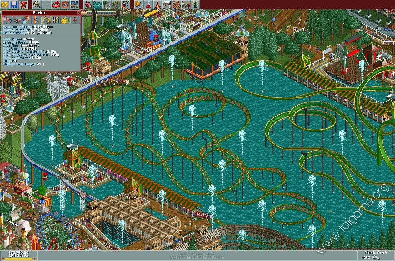 RollerCoaster Tycoon Deluxe - Tai game | Download game Mô phỏng