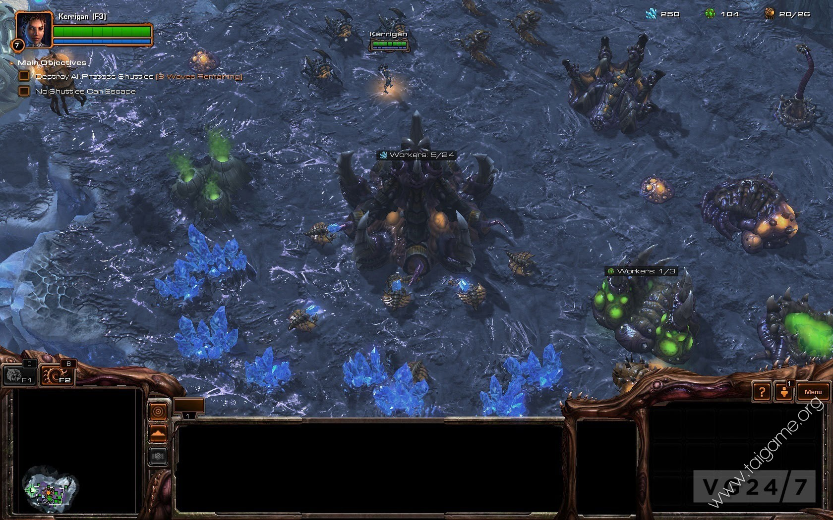 Zerg units heart of the swarm