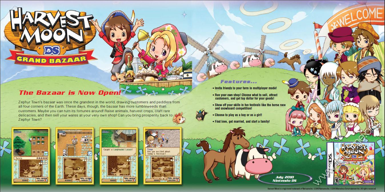 Harvest Moon DS: Grand Bazaar | The Harvest Moon Wiki ...